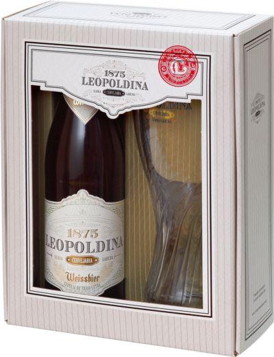 Kit Cerveja Leopoldina Weissbier 500ml + 1 taça