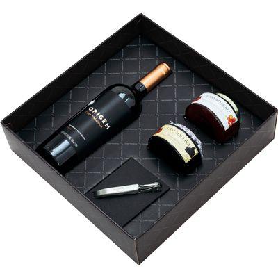 Kit Casa Valduga Origem (Cabernet Sauvignon (750ml) + 2 geleias + saca rolhas)