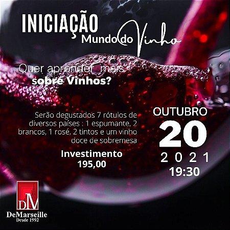 Curso de Iniciação ao Mundo dos Vinhos dia 20/10 (Quarta-feira)