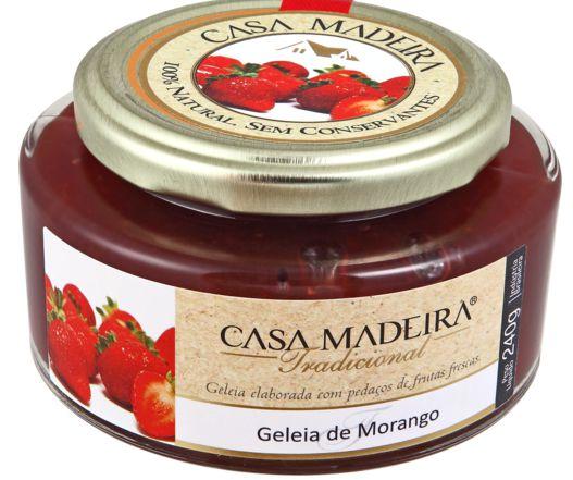 Casa Madeira Geleia Tradicional de Morango com pedaços (240g)
