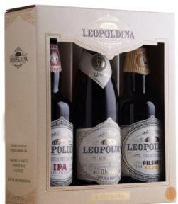 Kit Cerveja Leopoldina 3 garrafas (Pilsener, IPA e Weissbier)(500ml)