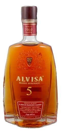 Alvisa Brandy Ecologico 5 Anos (500ml)