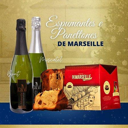 kit Espumante e Panettone Premium De Marseille
