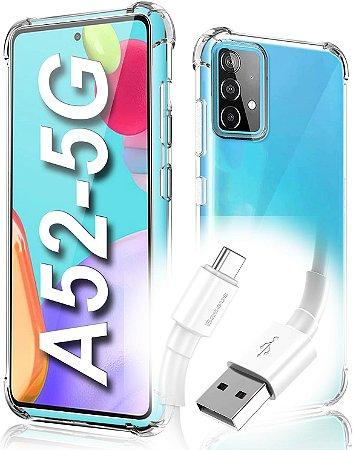 Capa Anti Shock para Galaxy A52 +Pelicula de Vidro 3D + Cabo Carregador