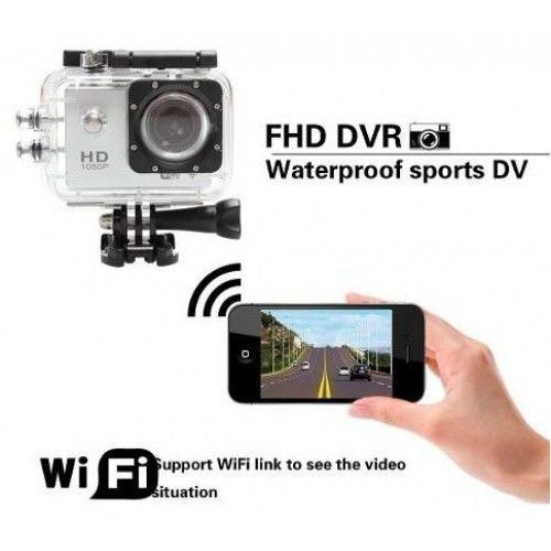 Camera Aprova D'agua Action Cam Sport Cam Full HD 1080P Wi-Fi