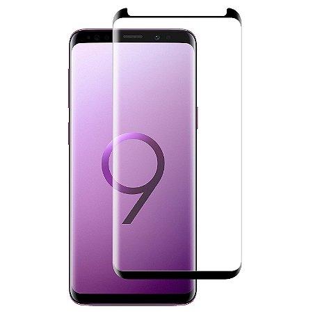 Pelicula de Vidro Curva Samsung Galaxy S9 G960 Gruda 100%