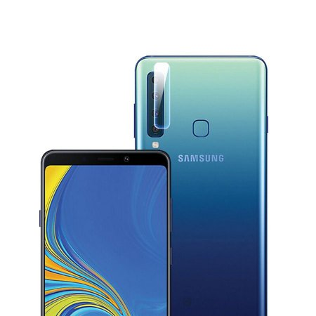 2 x pelicula de vidro + 1 pelicula de vidro para camera galaxy a7 2018