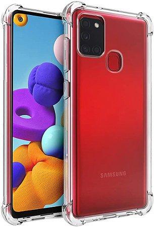 Capa Anti Shock para Samsung Galaxy A21s + Pelicula de Vidro 3D