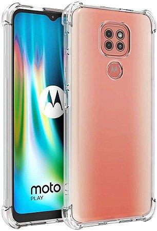 Capa Anti Shock Motorola Moto G9 Play + Pelicula de Vidro 3D