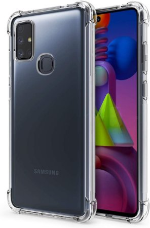 Capa Anti Shock para Samsung Galaxy M51 + Pelicula de Vidro 3D