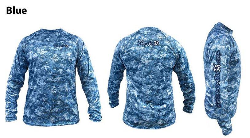 Camisa Monster 3X Nova Dry Sun Blue