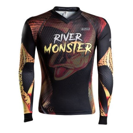 Camiseta BRK River Monster Dourado