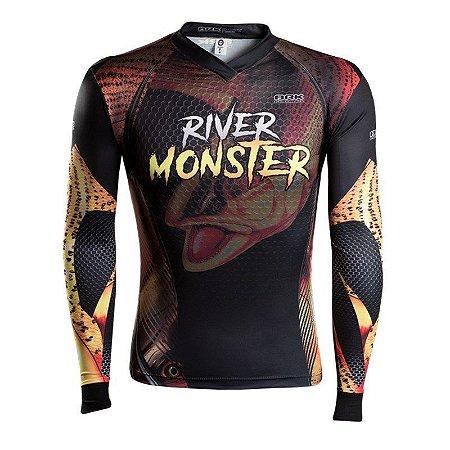 Camiseta BRK River Monster Dourado - BH Fishing - Loja de Pesca ... 73b8a8cd63802