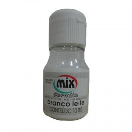 Corante liquido branco leite 10ml unid