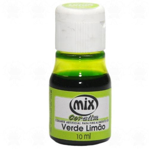 Corante liquido verde limao 10ml unid