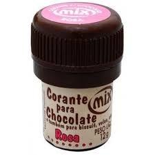 Corante p/ chocolate rosa 12grs unid