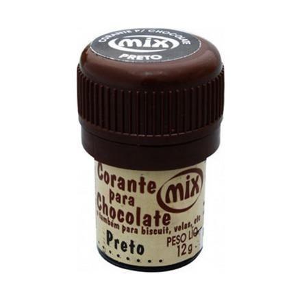 Corante p/ chocolate preto 12grs unid