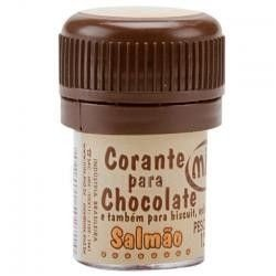 Corante p/ chocolate salmao 12grs unid