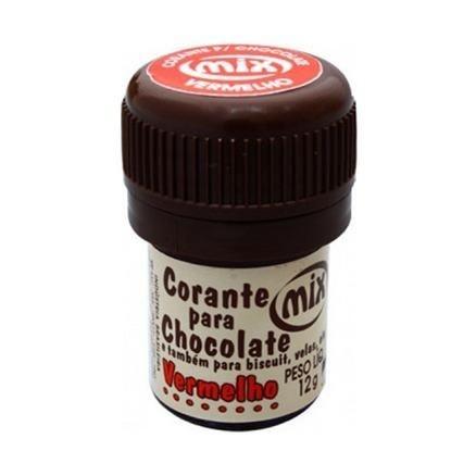 Corante p/ chocolate vermelho 12grs unid