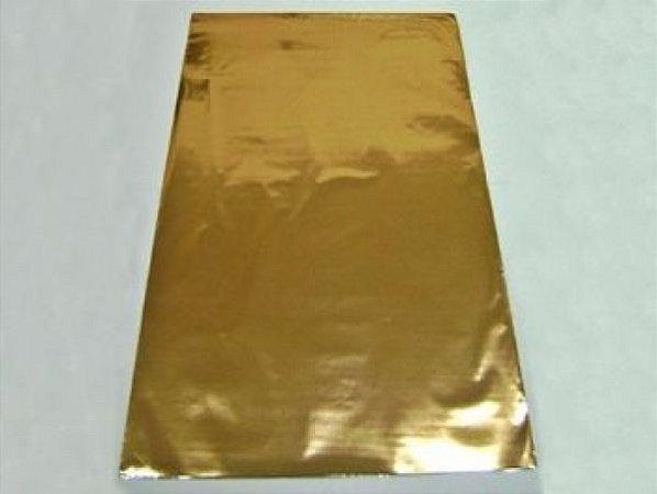 Saco metalizado 35x54 dourado c/50 unids