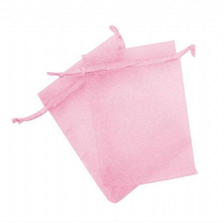 Saco organza 18x40 rosa bebe c/10 unids