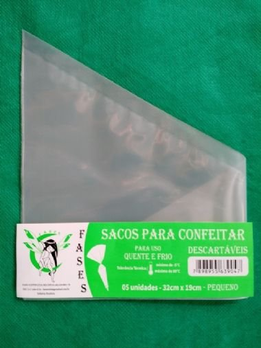Saco Confeitar Descartavel 32x19 c/5 unids