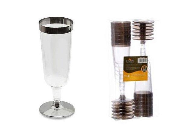 Taça Acrilica 150ml champanhe c/12 unids