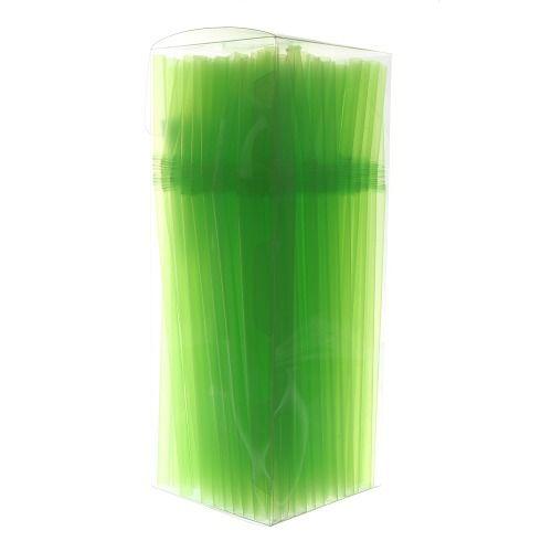 Canudo Neon Flexivel Verde 150 unids