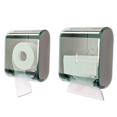 Dispenser Multiplo Toalheiro/Higienico Rolao Premisse Verde unid