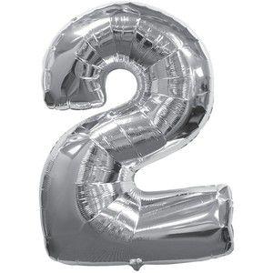 Balão Metalizado nº2 Prata unid