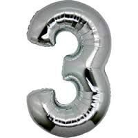 Balão Metalizado nº3 Prata unid
