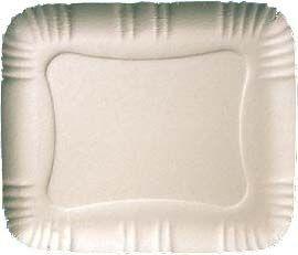 Bandeja Papelão Branca N°026 37cmx30cm 100 unids