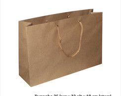 Sacola papel Kraft 25x35x10 n°04 c/10 unidS