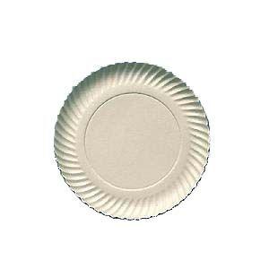 Prato papelão branco nº 06 (25CM) c/ 100