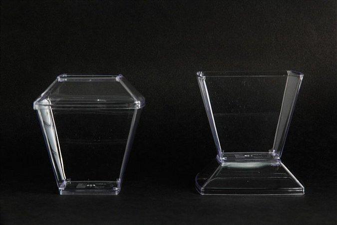 Pote Acrilico 150ML (151) Cristal c/ tampa 400 unids