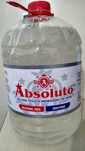 Álcool Gel 70% Absoluto Bactericida 5 lts unid