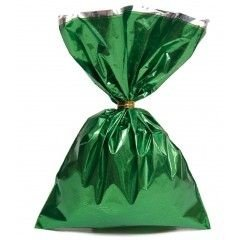 Saco metalizado 35x54 verde c/50 unids