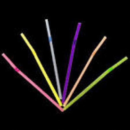 Canudo Neon Flexivel Embalado c/100 unids