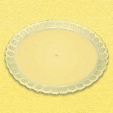 Bandeja Acrilica Redonda (prato) 400mm Cristal unid