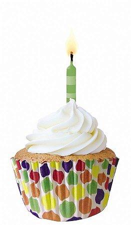 Forma papel Cupcake Bolinha grande c/45 unids (consultar disponibilidade antes da compra)