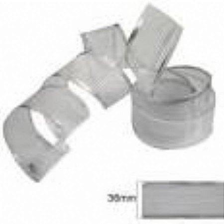 Fita decorada aramada 2,7cmx10mts prata unid (consultar disponibilidade na loja antes a compra)