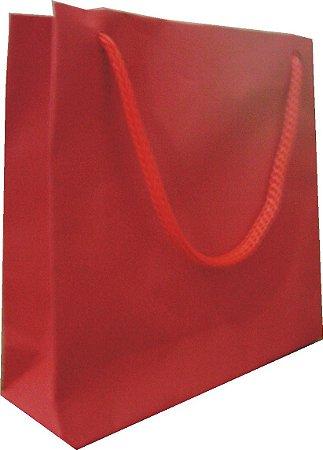 Sacola papel Vermelha 10x10 (PP) c/10 unids