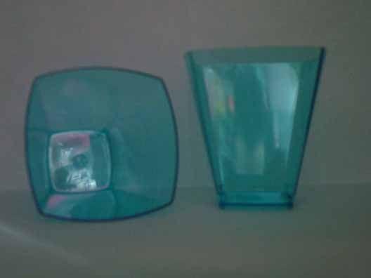 Copo Acrilico 51ml Quadrado Azul c/1000 unids