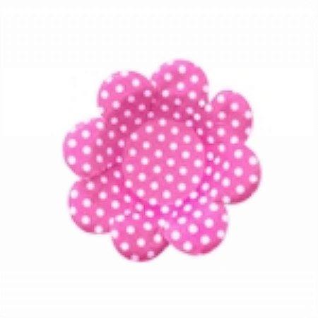 Forma Papel Cartão Flor Poá Pink/Bco c/50 unids (consultar disponibilidade antes da compra)