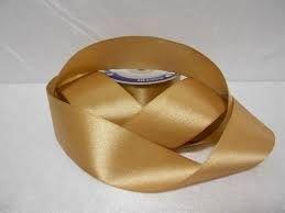 Fita Cetim nº01 Dourada (7mm) 10mts unid (consultar disponibilidade na loja)