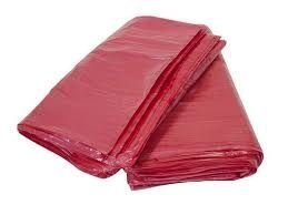 * Saco lixo 20lts vermelho (0,4) c/100 unids