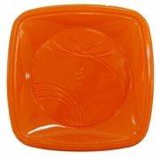 Prato Plastico 15x15 Laranja Trik Trik 10 unids (consultar disponibilidade antes da compra)