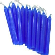 Vela Palito Azul c/20 unids