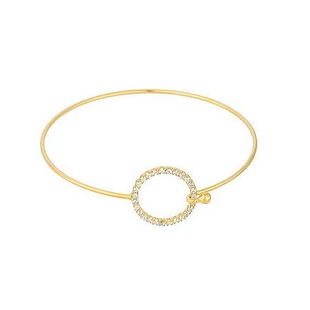 Bracelete Círculos Com Zircônia