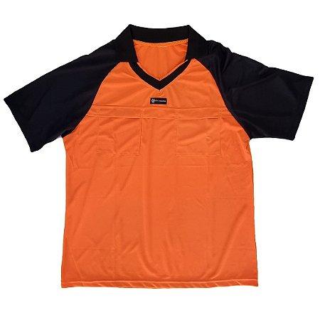 Camisa para Árbitro - Juiz de Futebol AX Esportes Laranja